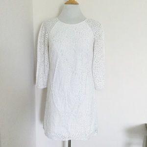 Lilly Pulitzer White Cotton Lace Dress